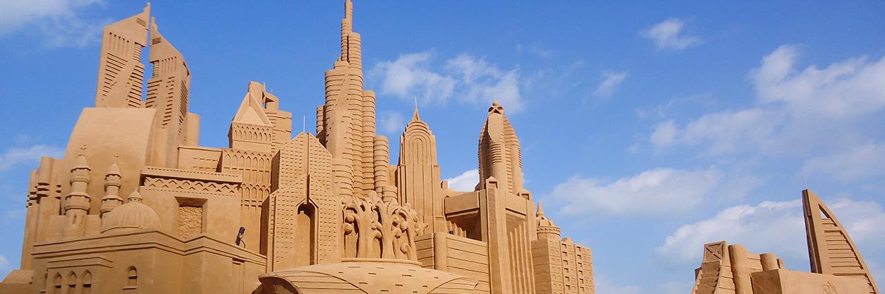 Dubai buildings Sand Sculpture City Sandcastle Sculpting Sand – Jennifer Rossen