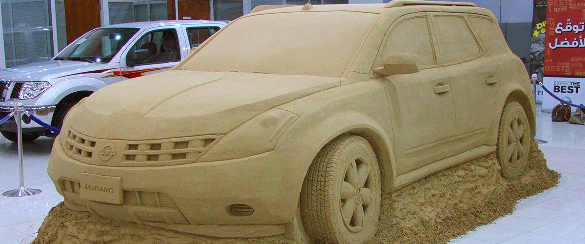 Nissan Car Sand Sculpture UAE – Sculpting Sand – Jennifer Rossen